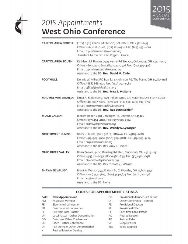 Appointments | West Ohio Conference of The United Methodist Church